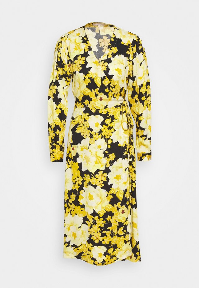 ROSANNA MIDI DRESS PRINTED - Sukienka letnia - yellow