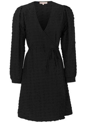 JEANIE LS WRAP - Jerseykleid - 001 black