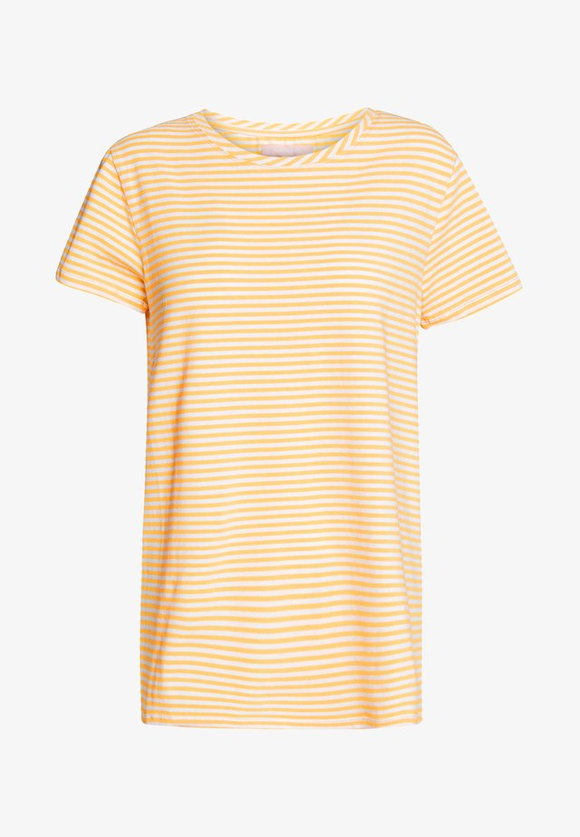 ELLE STRIPES - T-shirt med print - kumquat