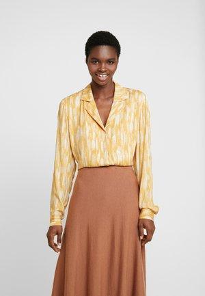 TIE PRINTED - Button-down blouse - blaze
