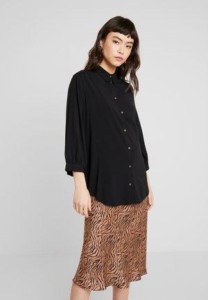 HAILEY - Button-down blouse - black