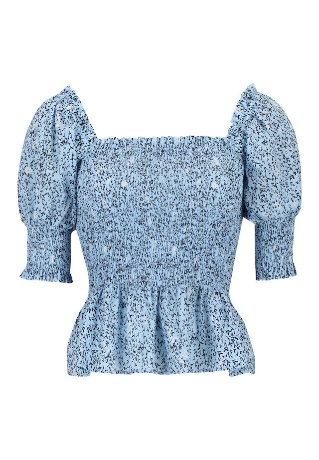 METS COTTON 2/4 SMOCK TOP PRINTED - Bluzka - cashmere blue print