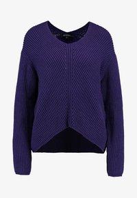 Soft Rebels - MILLE V NECK - Stickad tröja - parachute purple - 3