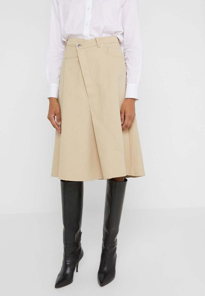 Rika - A-line skirt - khaki