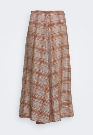 FLOW SKIRT - A-line skirt - brown/red
