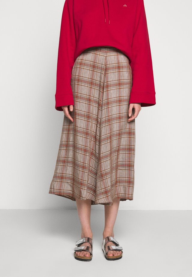 FLOW SKIRT - Spódnica trapezowa - brown/red
