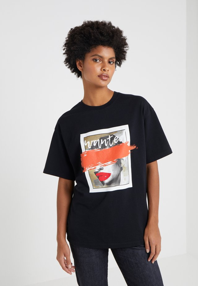 WANTED TEE - T-shirt med print - black