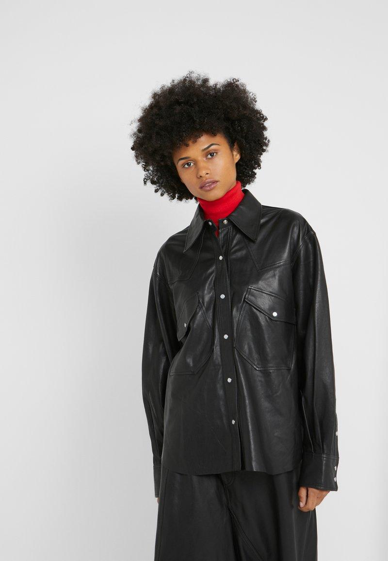 Rika - GRACE SHIRT - Button-down blouse - black