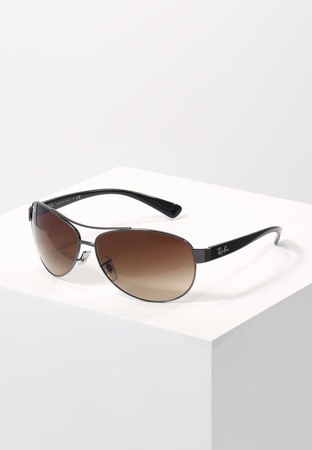 Sunglasses - gunmetal/brown gradient