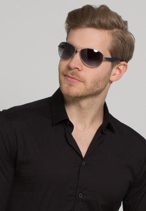 Solbriller - silberfarben/blau