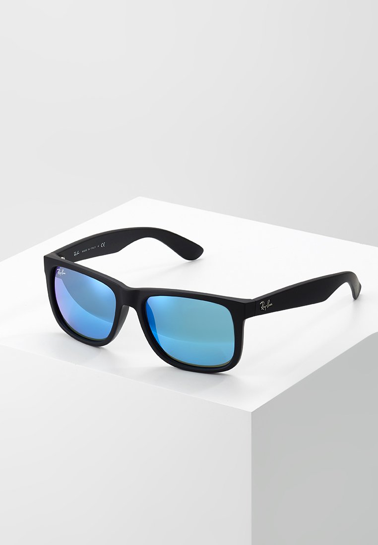 Ray-Ban - JUSTIN - Lunettes de soleil - black/green/mirror blue