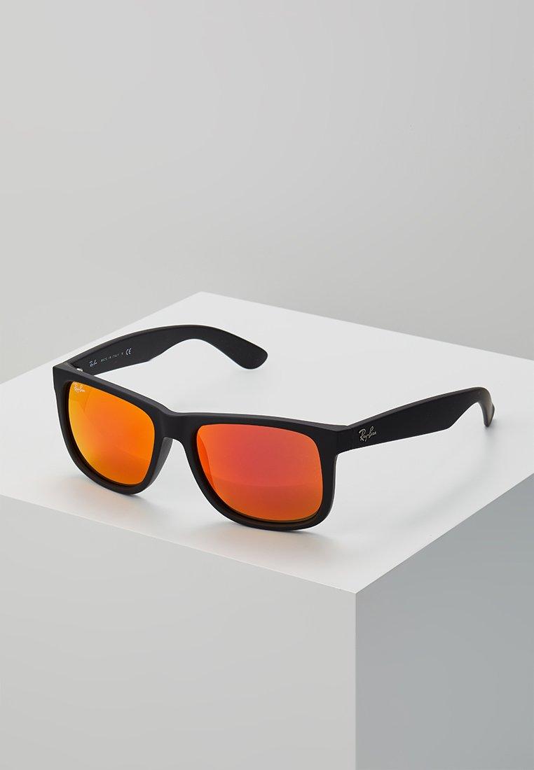 Ray-Ban - JUSTIN - Sunglasses - black brown mirror orange