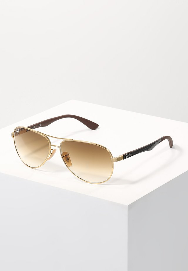 Gafas de sol - gold/crystal brown gradient