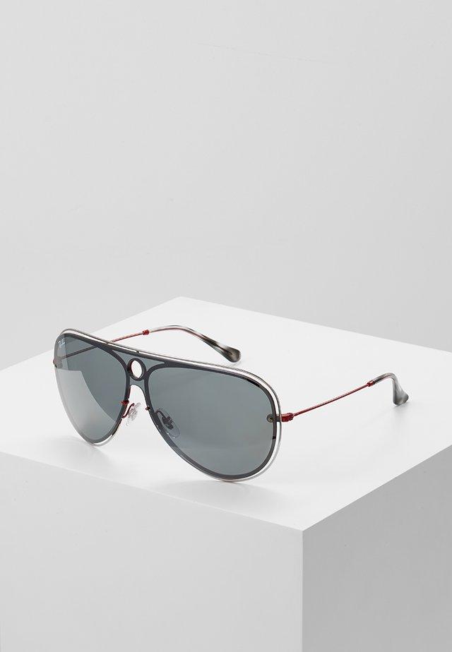 Sunglasses - red/silver-colured/grey mirror