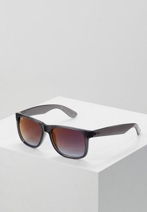Sunglasses - trasparent grey/grey gradient/mirror red