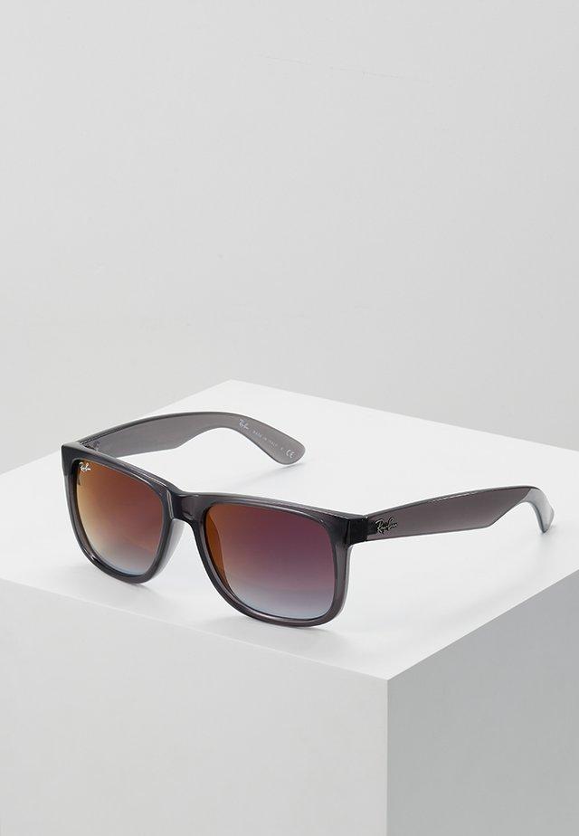 Gafas de sol - trasparent grey/grey gradient/mirror red