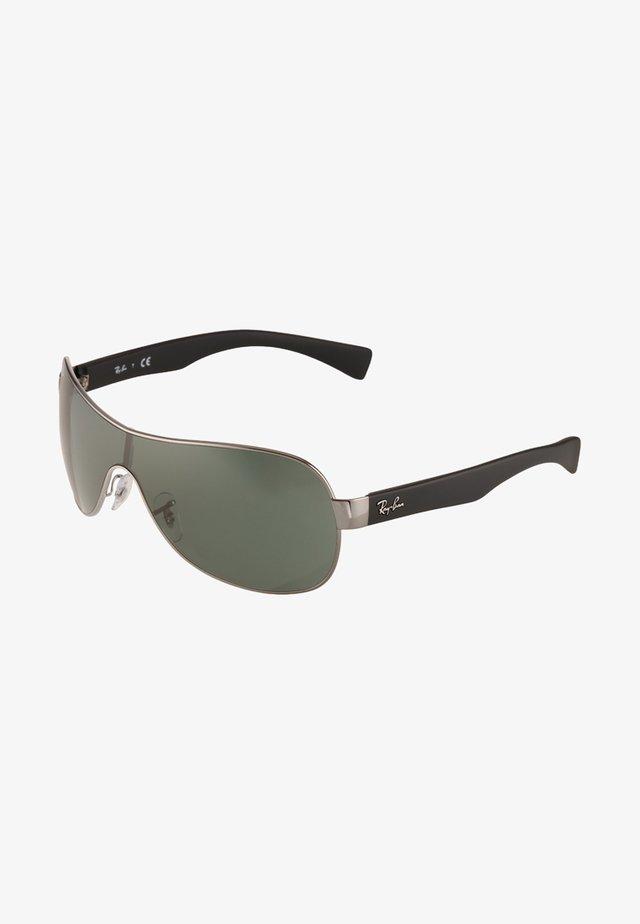 Okulary przeciwsłoneczne - silver/black/green