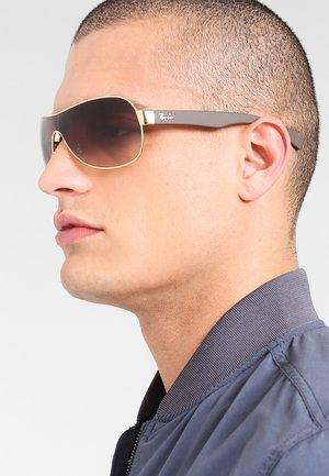 Solbriller - goldfarben/braun