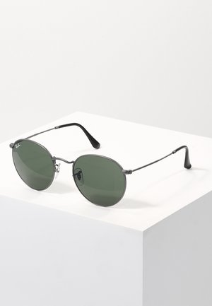 ROUND - Solbriller - gunmetal/crystal green