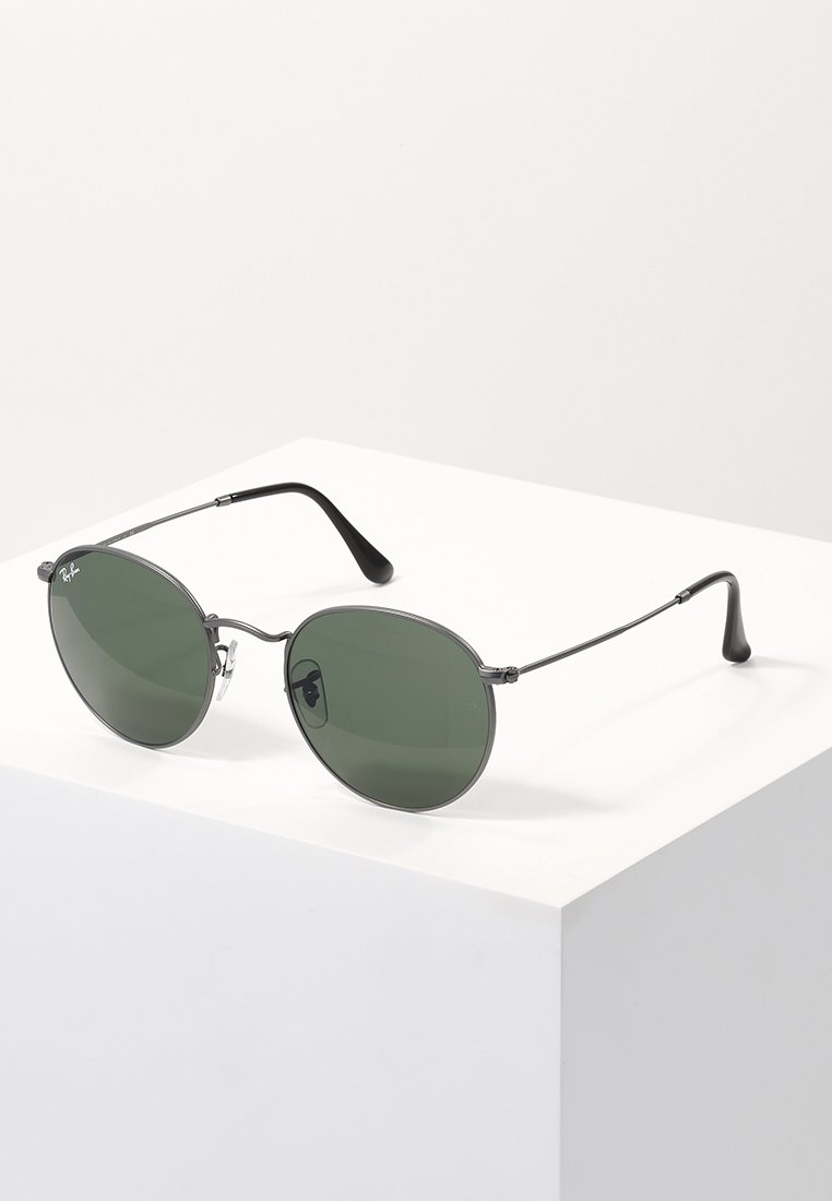 Ray-Ban - ROUND - Sonnenbrille - gunmetal/crystal green