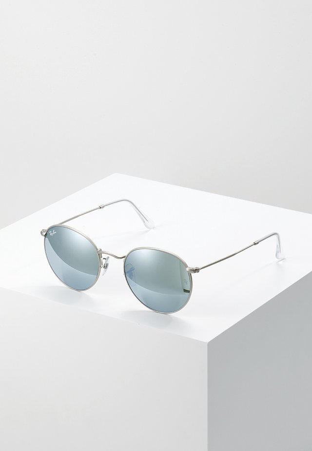 ROUND - Lunettes de soleil - light green/mirror silver-coloured