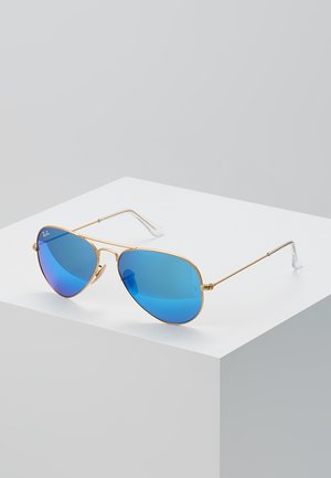 ROUND - Occhiali da sole - gold-coloured/blue