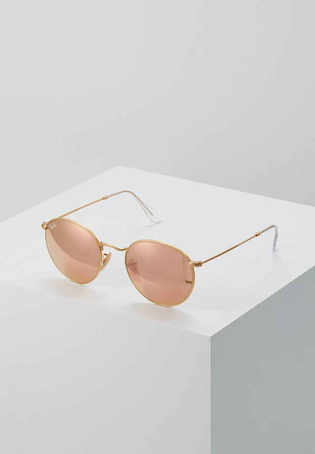 ROUND - Sunglasses - brown/pink