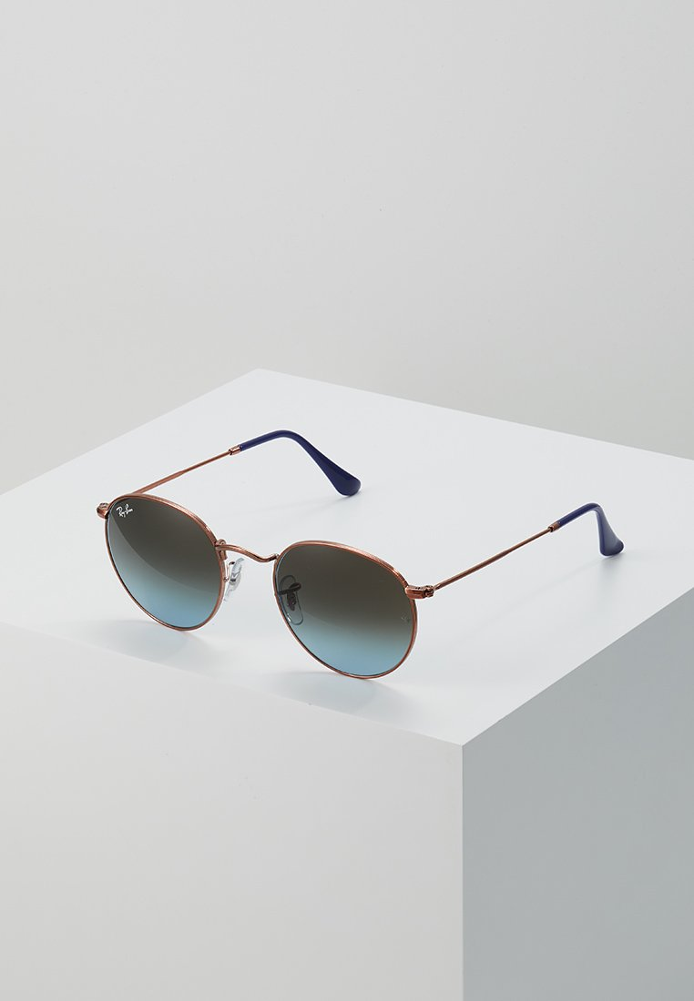Ray-Ban - ROUND - Sunglasses - blue gradient brown