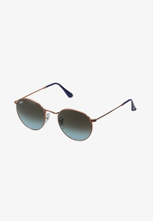 ROUND - Solglasögon - blue gradient brown