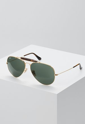 OUTDOORSMAN II - Zonnebril - gold/dark green