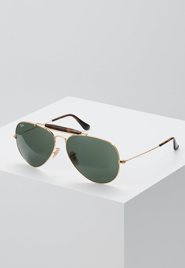 OUTDOORSMAN II - Sonnenbrille - gold/dark green