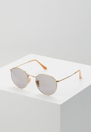 ROUND METAL - Sunglasses - gold-coloured