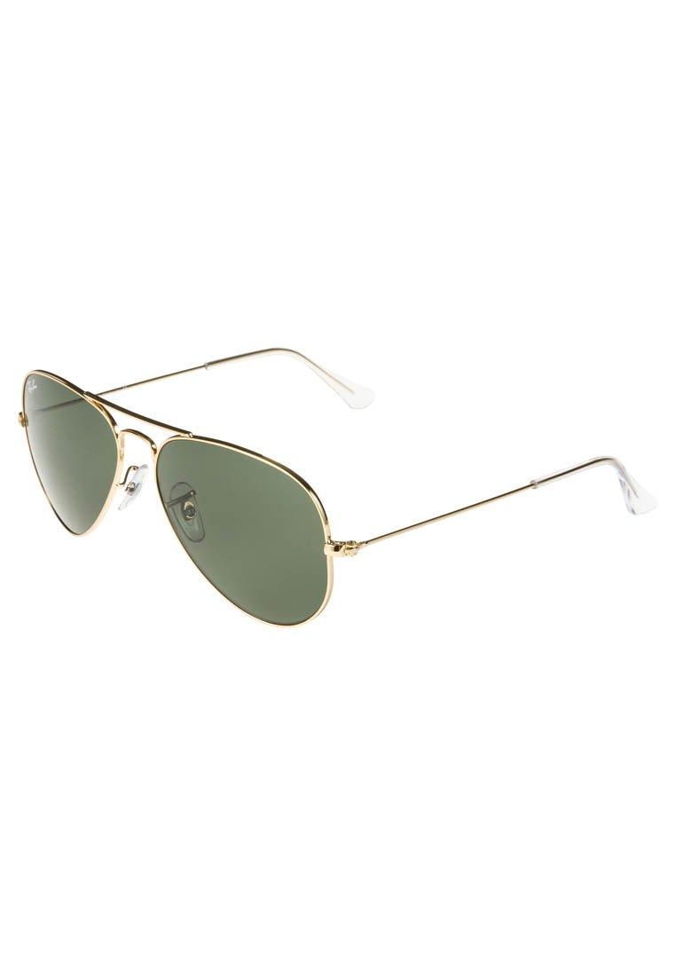 Ray-Ban - AVIATOR - Sunglasses - goldfarben/grün