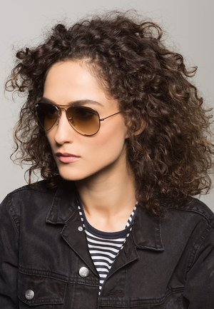 AVIATOR - Sunglasses - braun/goldfarben