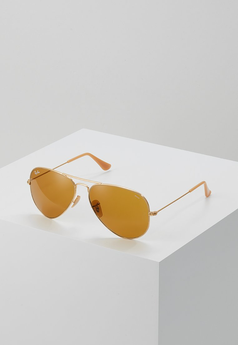 Ray-Ban - AVIATOR - Solbriller - gold-coloured/photo brown