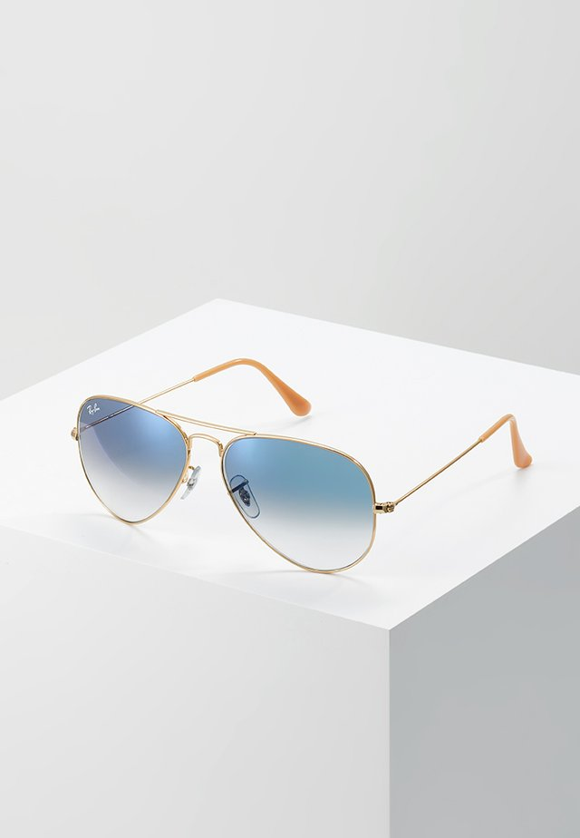 AVIATOR - Sunglasses - gold crystal gradient light blue