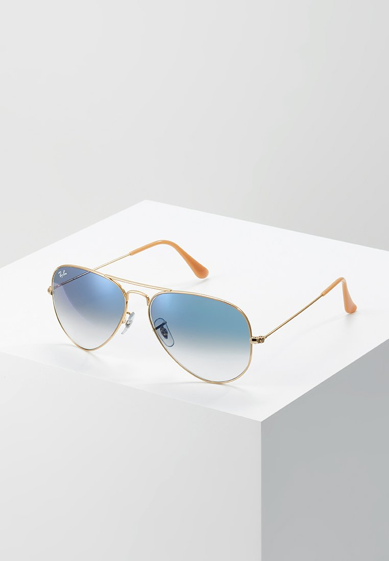 Ray-Ban - AVIATOR - Sunglasses - gold crystal gradient light blue