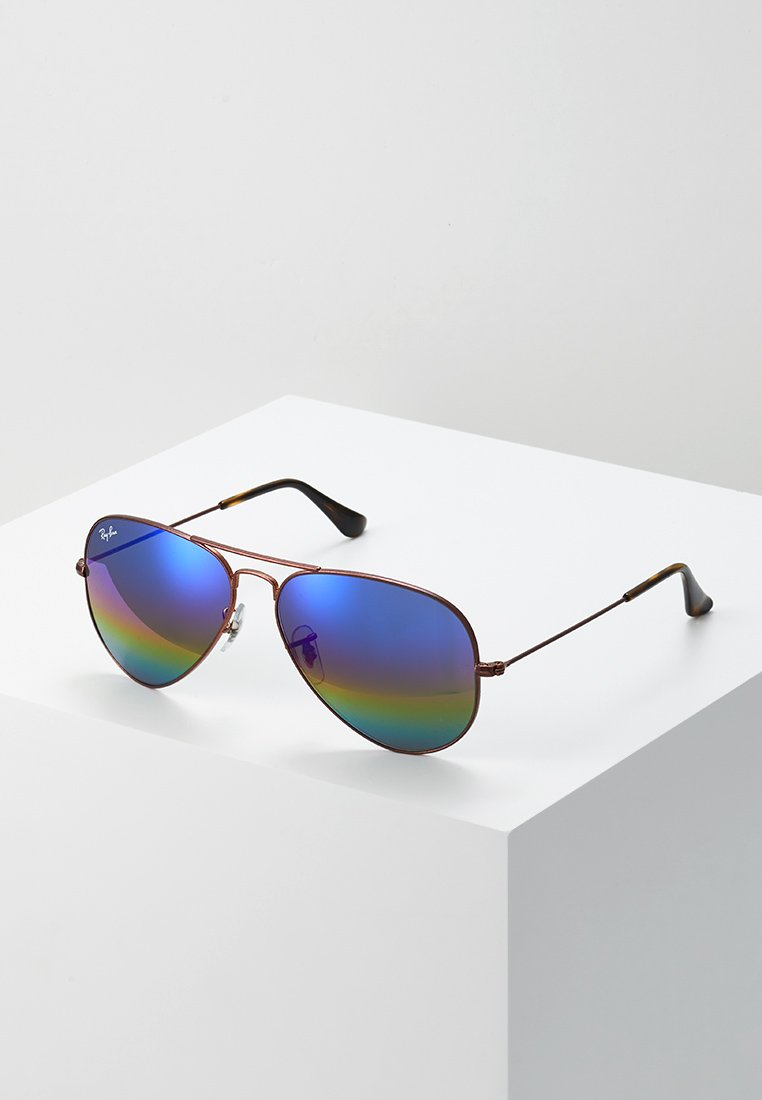 Ray-Ban - AVIATOR - Solbriller - bronze-coloured/copper light grey rainbow