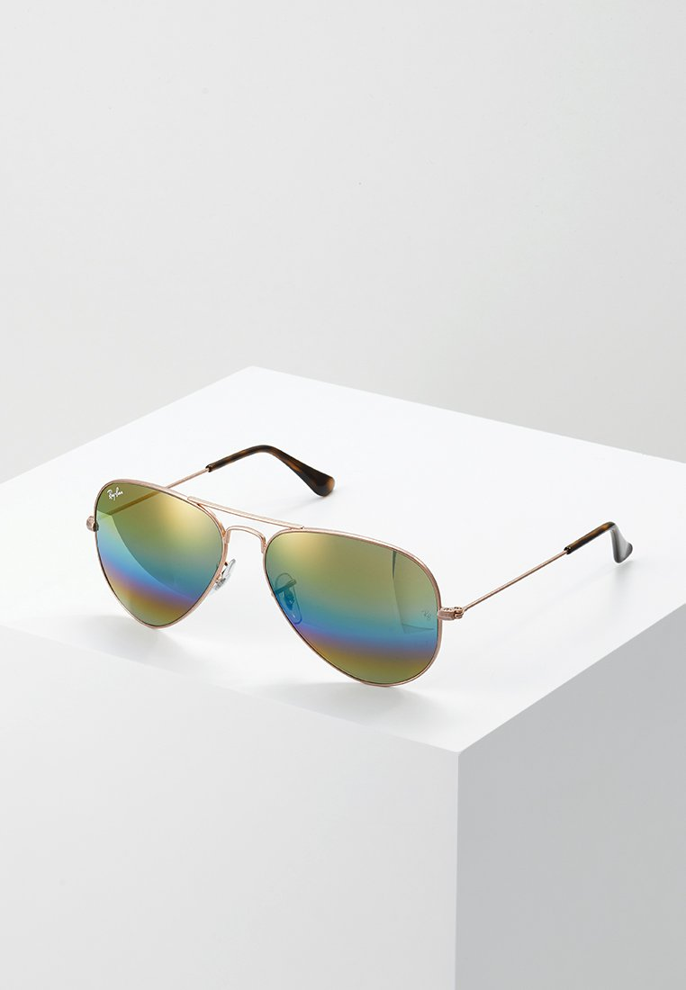 Ray-Ban - AVIATOR - Sunglasses - bronze/copper light grey rainbow