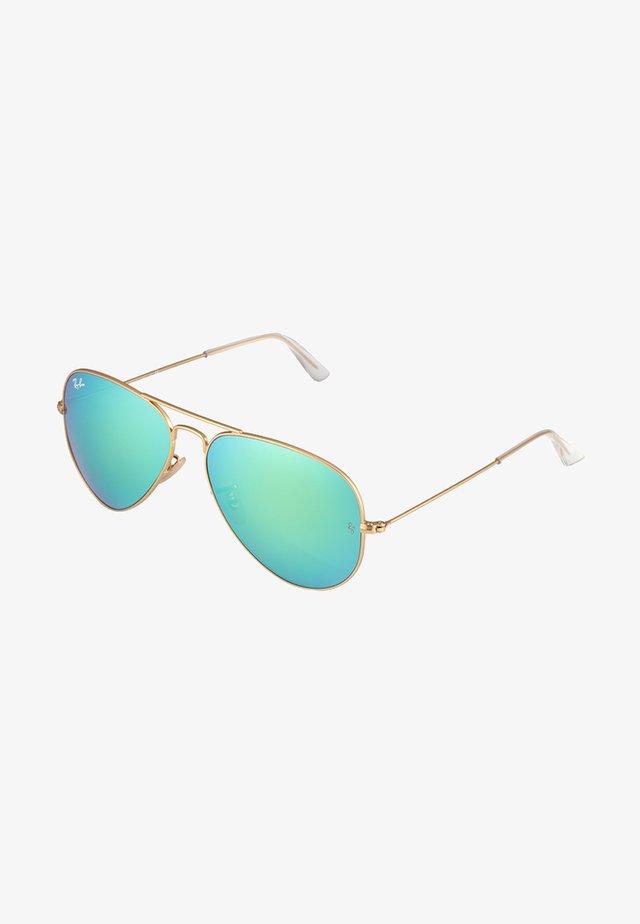 AVIATOR - Sluneční brýle - goldfarben/grün