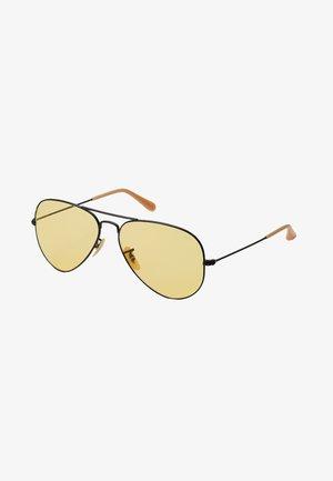 AVIATOR - Sunglasses - black/photo yellow