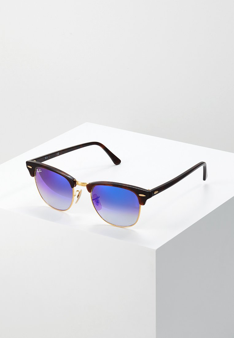 Ray-Ban - CLUBMASTER - Occhiali da sole - havanablu/flash gradient