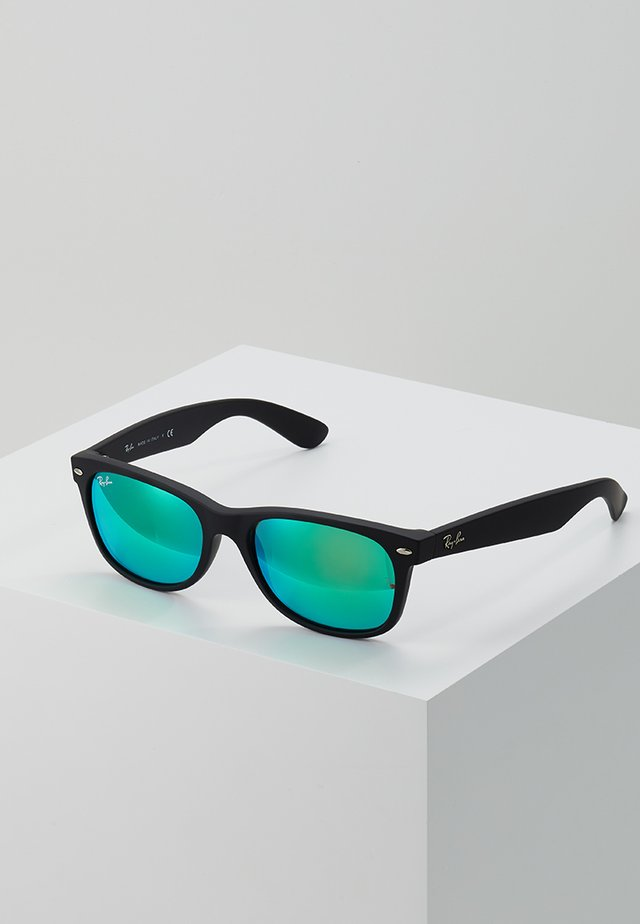 Sonnenbrille - black grey mirror green