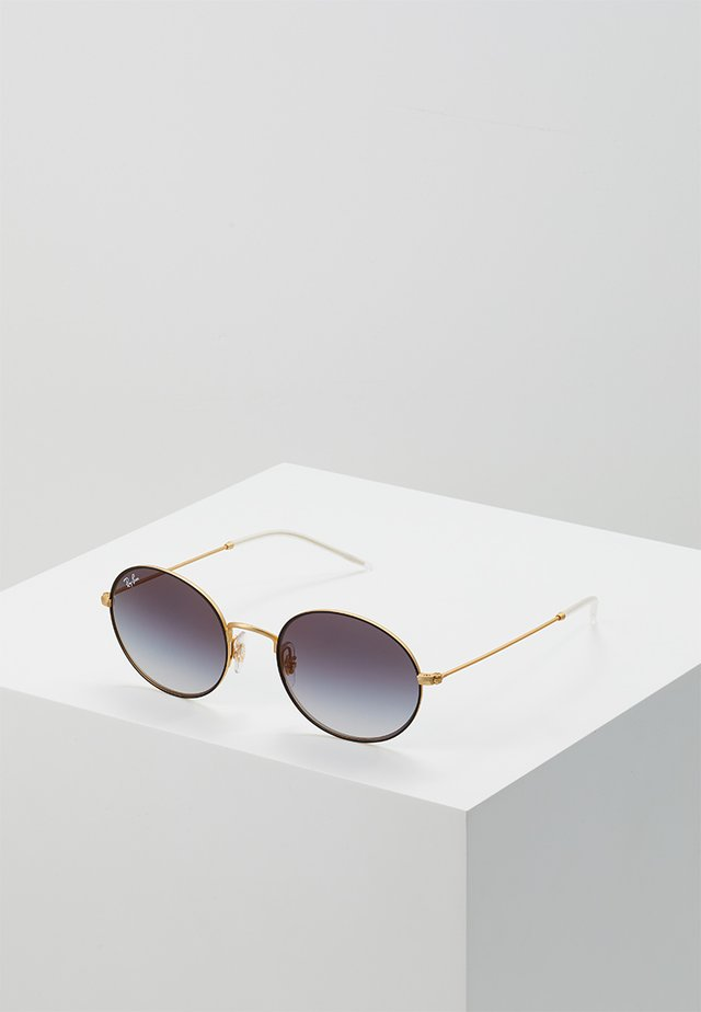 Sunglasses - rubber gold-coloured on top black