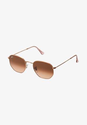 Okulary przeciwsłoneczne - pink gradient brown