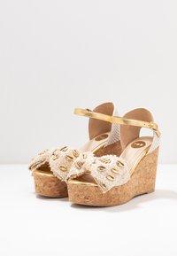 RAS - Korolliset sandaalit - fuffy sand/kiddy gold - 4