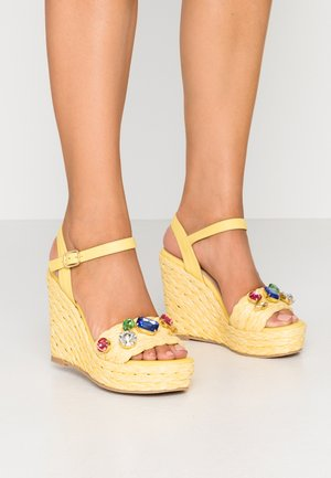 High heeled sandals - artes limon/dreamyellow