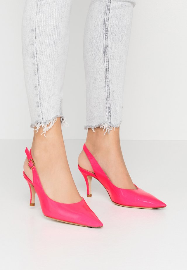 Pumps - fluor fuchsia