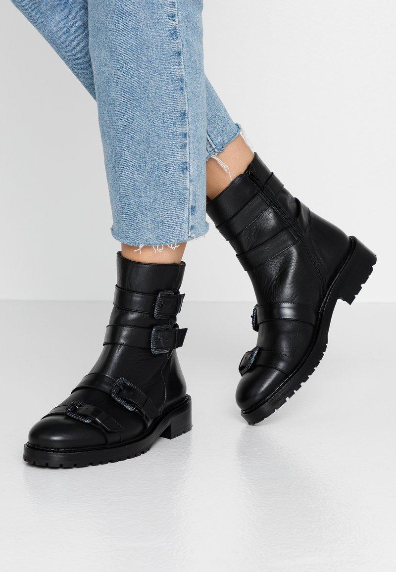 RAS - DADA - Kovbojské/motorkářské boty - black