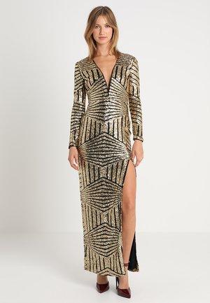 PLUNGE SEQUIN MAXI DRESS - Festklänning - gold